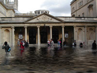 Bath flooded